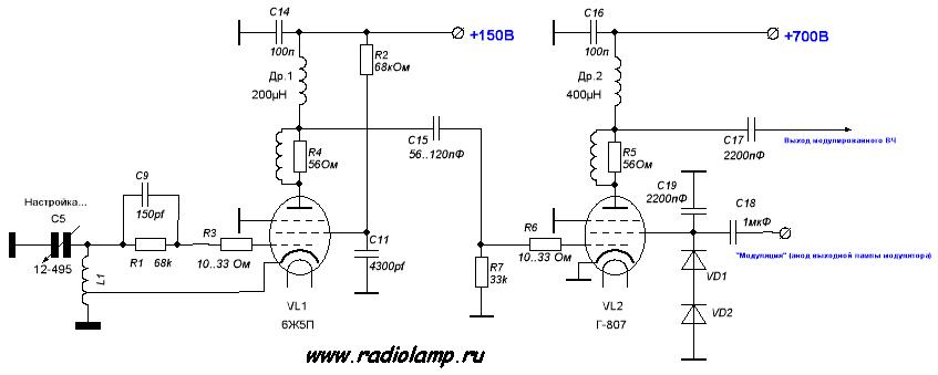 Простой КВ-передатчик на Г-807