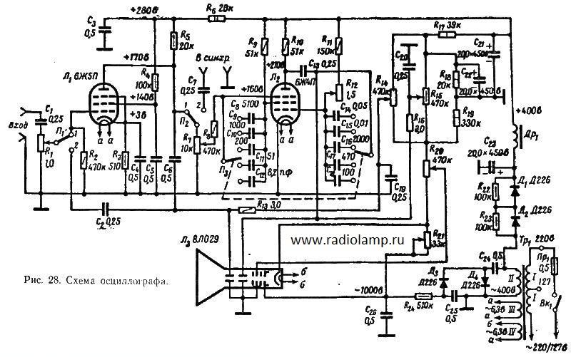 на двух радиолампах